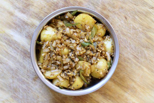 Młode ziemniaki w masali